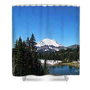 Mt. Rainier And Tipsoo Lake Shower Curtain