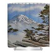 Mt. Rainier Landscape Shower Curtain