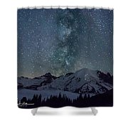 Mt Rainier Milkway Climbers Shower Curtain