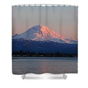 Mt Rainier Sunset Shower Curtain