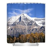 Mt. Robson- Canada's Tallest Peak Shower Curtain