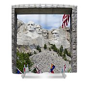 Mt Rushmore Entrance Shower Curtain