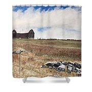 Mt Savior Barn Shower Curtain