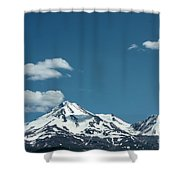 Mt Shasta With Heart-shaped Cloud Shower Curtain