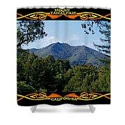 Mt Tamalpais Framed 1 Shower Curtain