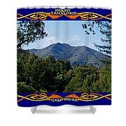 Mt Tamalpais Framed 2 Shower Curtain