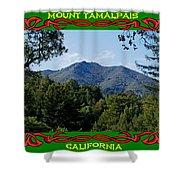Mt Tamalpais Framed 5 Shower Curtain