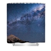 Mt Taranaki Galactic Core Shower Curtain