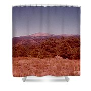 Mt Taylor In New Mexico  Shower Curtain
