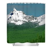 Mt Thielson Coated Shower Curtain