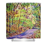 Mt. Tom Spring Day Shower Curtain