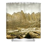 Mt Whitney Sierra Basecamp Shower Curtain