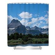 Mt Wilbur In Glacier National Park Shower Curtain