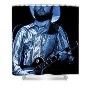 Mtb77#50 Enhanced In Blue Shower Curtain