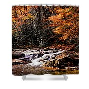 A Warm Fall Day Shower Curtain
