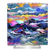 Mts. In The Sea Shower Curtain