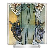 Mucha: Theatrical Poster Shower Curtain