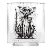 Mucky Cat Shower Curtain