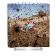 Mud Action Shower Curtain