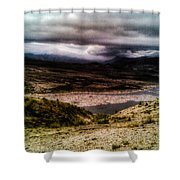 Mud Flow To Spirit Lake Color Shower Curtain
