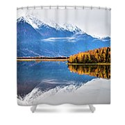 Mudd Lake Reflections Shower Curtain