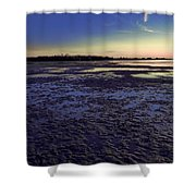 Muddy Beach Shower Curtain
