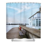 Mudeford - England Shower Curtain