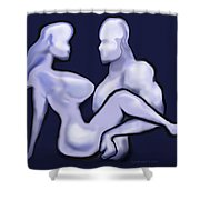 Mudflap Babe N Dude Shower Curtain
