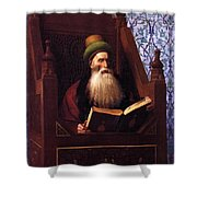 Mufti Reading In His Prayer Stool Shower Curtain