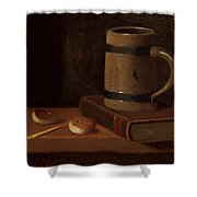 Mug Book Biscuits And Match Shower Curtain
