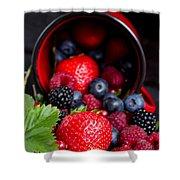 Mug With Fresh Berries Shower Curtain