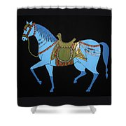 Mughal Horse Shower Curtain