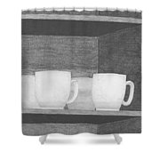 Mugs On A Shelf Shower Curtain