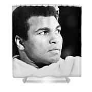 Muhammed Ali (b. 1942) Shower Curtain by Granger