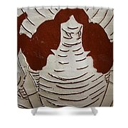 Mukama Atulabba - God Sees Us - Tile Shower Curtain