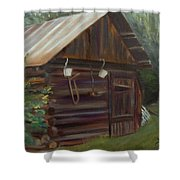 Mulberry Farms Grainery Shower Curtain