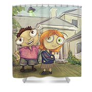 Mulder And Scully In Acadia Shower Curtain
