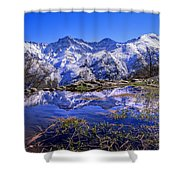 Mulhacen  Alcazaba And Vacares Shower Curtain