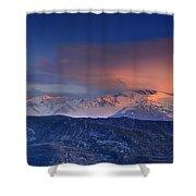 Mulhacen And Alcazaba And Veleta Panoramic Shower Curtain