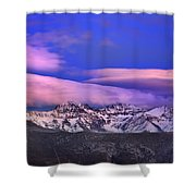 Mulhacen And Alcazaba At Sunset Shower Curtain