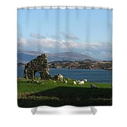 Mull And The Trossachs From Iona Shower Curtain