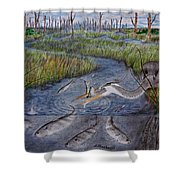 Mullet Creek Shower Curtain