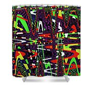 Multi Color Abstract Shower Curtain