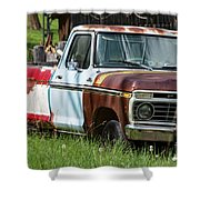 Multi-colored Ford Shower Curtain