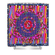Multi Layered Colorful Flowers Christmas Wreath Style By Navinjoshi At Fineartamerica  Shower Curtain