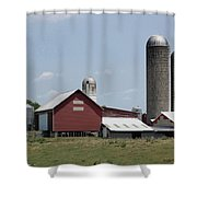 Multi Silo Farm Shower Curtain