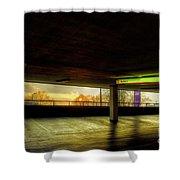 Multi-storey Sunset Shower Curtain
