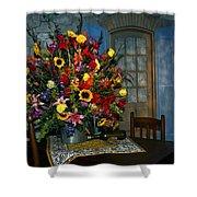 Multicolor Floral Arrangement Shower Curtain