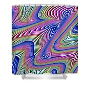 Multicolor Swirls Shower Curtain