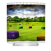 Multicolored Bales Fantasy Shower Curtain